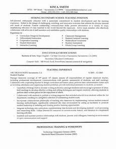 secondary teacher resume exle ahha elementary teacher resume teaching resume preschool