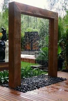 fontaine deco maison fontaine de jardin avec rideau d eau en 2019 jardins