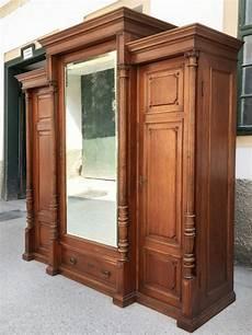 kleider schrank garderobeschrank kleiderschrank dreit 252 rig vollholz antik