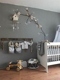 wandobjekte selber machen babyzimmer in grauen farbschemen dekoration an der wand