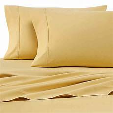 buy heartland 174 homegrown 400 thread count solid sateen queen sheet in yellow from bed bath