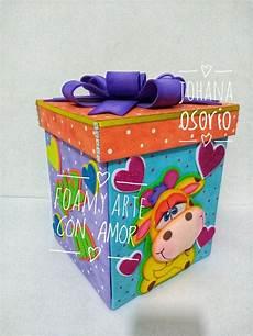 caja explosiva elaborada en foamy por johana osorio cajas de regalo en foami