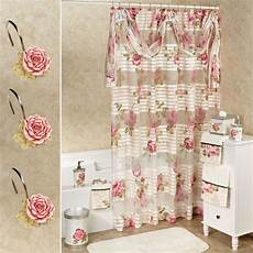 Roses Shower Curtain sheer floral shower curtain