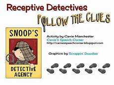 carrie s speech corner receptive detectives tpt activity with freebie