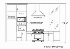 Kitchen Plan Elevation And Section by Kitchen Range Wall Elevation Interior Sections In 2019
