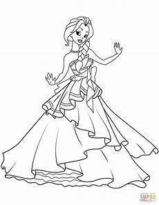 princess coloring page free printable coloring pages
