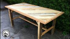 fabrication d une table solide en bois de r 233 cup 233 ration
