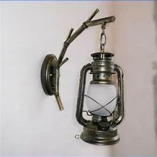 american country living room bamboo wall lights antique vintage kerosene lantern wall ls