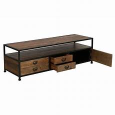 meuble tv hifi marron interior s