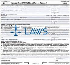 form 588 nonresident withholding waiver request california forms laws com