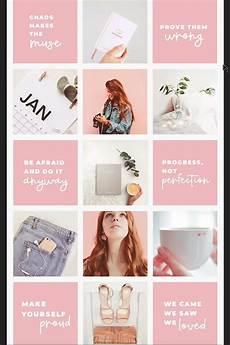 Feminine Pink White Background Instagram Feed Design For