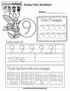 this is a number 9 activity worksheet children can trace the number and circle the box with 9