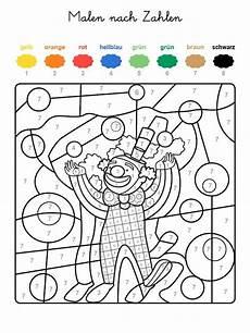 Malen Nach Zahlen Ausmalbilder Kinder Malen Nach Zahlen Lustiger Clown Jpg 600 215 800 Malen