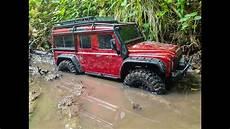traxxas land rover traxxas trx4 land rover defender 110 muding run im
