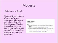 PPT   MODESTY and the MORMONS PowerPoint Presentation   ID
