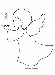 candela da colorare disegni di natale colorare angelo con candela