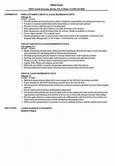 dental sales representative resume sles velvet