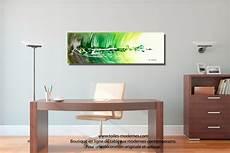 Tableau Ville Abstraite Rectangle 3d Vert Pour Une