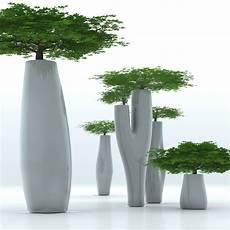cache pot design pot de fleurs missed tree ii h 200 cm noir mat serralunga