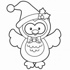 Ausmalbilder Eule Weihnachten Simple Owl Coloring Pages Printable Colouring Pages