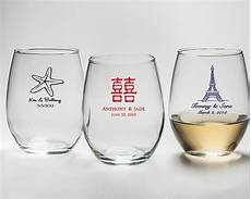 bicchieri personalizzati vetro personalized stemless wine glass 9 oz