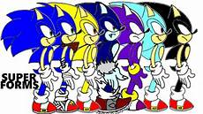 all sonic forms sonic the hedgehog animation including some super other random forms not precise youtube