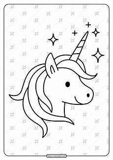 Malvorlagen Unicorn Yellow Free Printable Sparkling Unicorn Pdf Coloring Page
