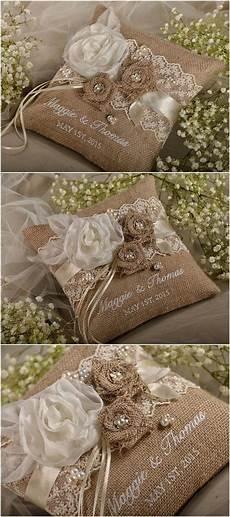 rustic country burlap wedding ring bearer pillow 4lovepolkadots ring bearer wedding wedding