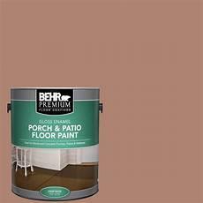 behr premium 1 gal 220f 5 light mocha gloss enamel interior exterior porch and patio floor