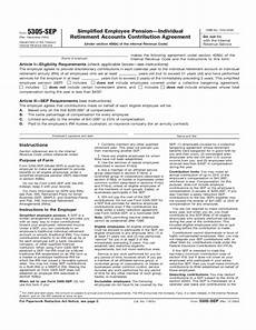 form 5305 sep form 5305 sep simplified employee pension individual