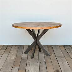 Dining Table In Reclaimed Wood And Steel Legs In Your