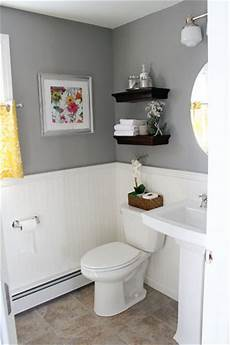 Yellow Half Bathroom Ideas by It S Just Paper At Home Powder Room Renovation