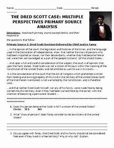 dred scott decision worksheet dred scott decision primary source analysis by danielle keane tpt