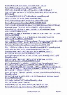 service repair manual free download 1992 volvo 740 transmission control 1995 volvo 960 service repair manual 95