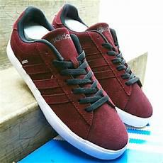 jual sepatu casual adidas neo derby original maroon di lapak fandy koestianto upayfan