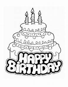 free printable birthday cake coloring pages for