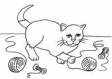 Ausmalbilder Katzenfamilie Ausmalbild Katzen Katze Mit Wollkn 228 Uel Ausmalen Kostenlos