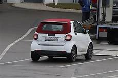 2016 smart fortwo cabrio spied with electric sliding