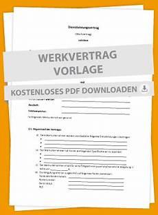 mustervertrag f 252 r dienstleistungen werkvertrag markt de
