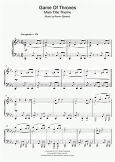 game of thrones main title piano sheet music