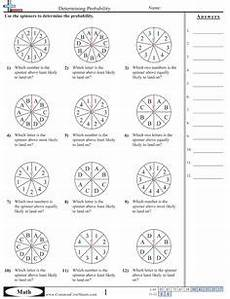 probability worksheets spinners 5883 probability worksheets using a spinner math aids ideas and worksheets