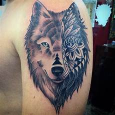 21 wolf tribal tattoo designs ideas design trends