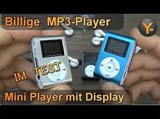 test mp3 player billig mp3 player im test mini player mit display clip