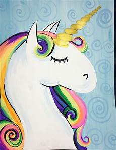 how to paint a rainbow unicorn easy step by step painting