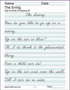 cursive handwriting worksheets poems 22053 printable handwriting worksheets manuscript and cursive worksheets