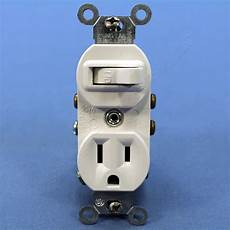 light switch and outlet leviton combination white wall toggle light switch outlet receptacle 15a 5225 w ebay