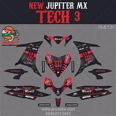 jual sticker striping motor stiker yamaha new jupiter mx monster electrik spec b di lapak