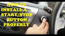 how to start and stop a car youtube the right way to install a start stop button youtube