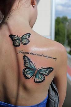 20 cute butterfly tattoos on back for women