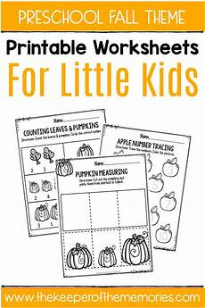 fall printable preschool worksheets the keeper of the